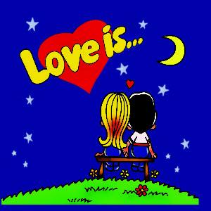 Обложка для инстакниги Love is синяя